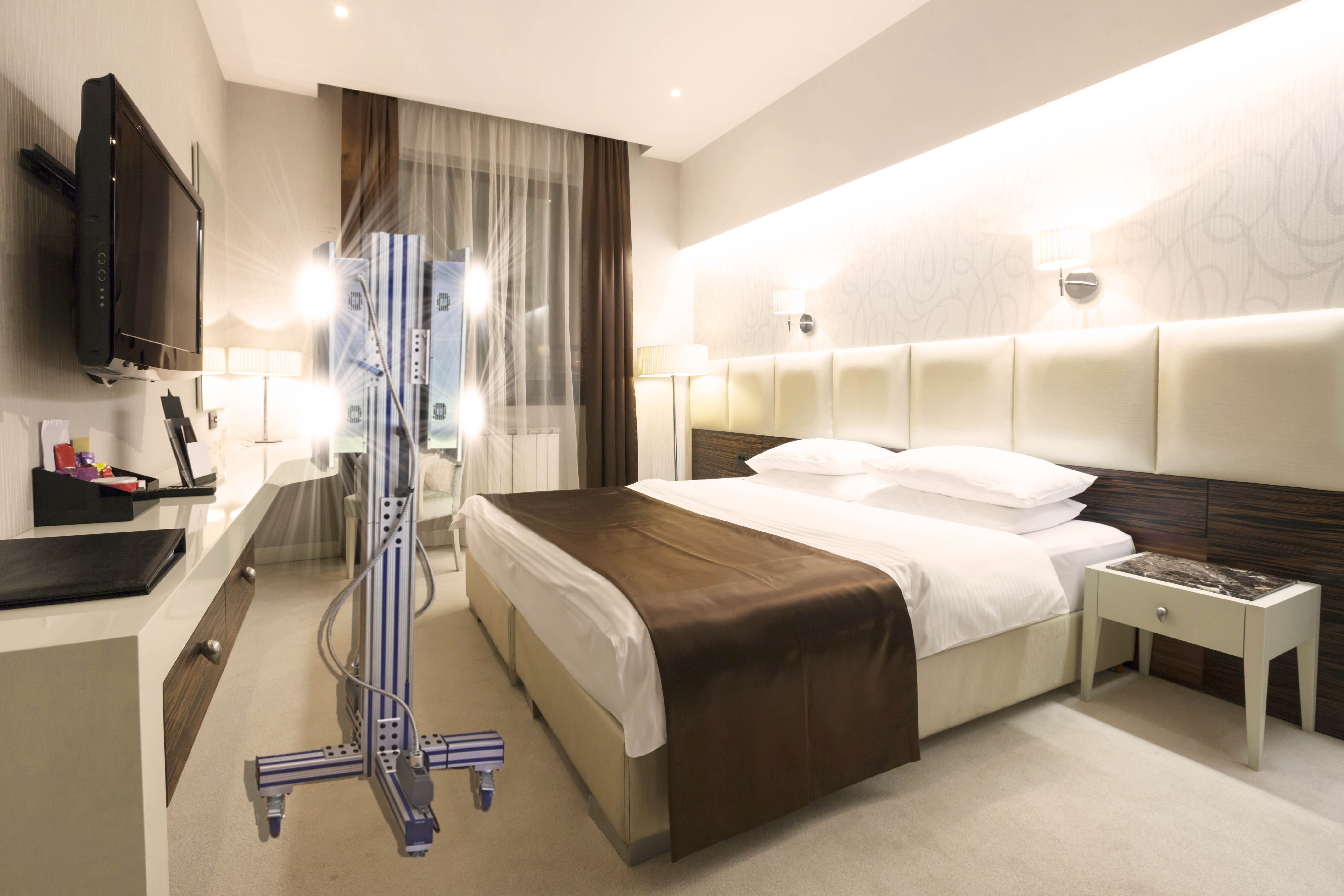 uv disinfection hotel suite